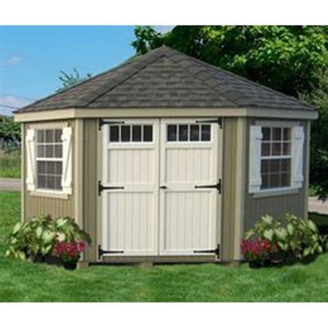 10 X 5 Garden Shed Cottage 10 X 10 Ft 5 Sided Colonial Panelized
