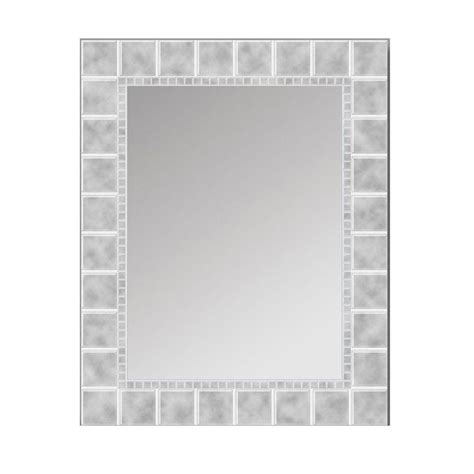 deco mirror mirrors 36 in x 24 in etched geometric wall deco mirror 36 in l x 24 in w large glass block