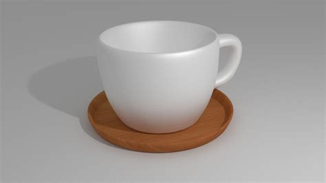 Cup On The Plate blender modeling tea cup with plate