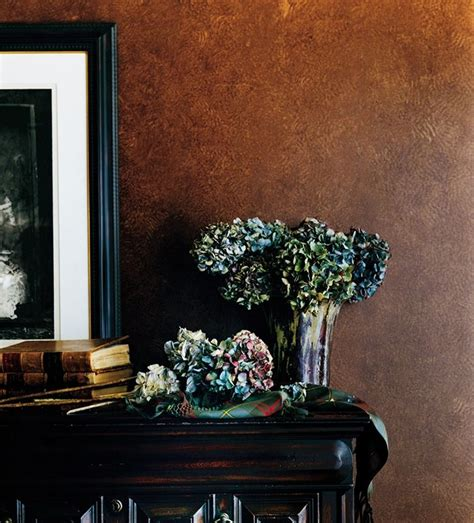 faux leather wall paint antiqued leather accent wall in the sitting room ideas