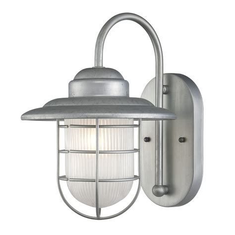 Galvanized Outdoor Light Shop Millennium Lighting R Series 11 5 In H Galvanized Medium Base E 26 Outdoor Wall Light At