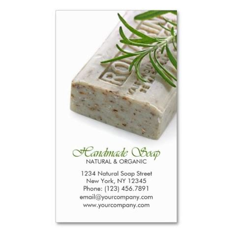 Soap Sler Card Template and organic herbal handmade soap business card