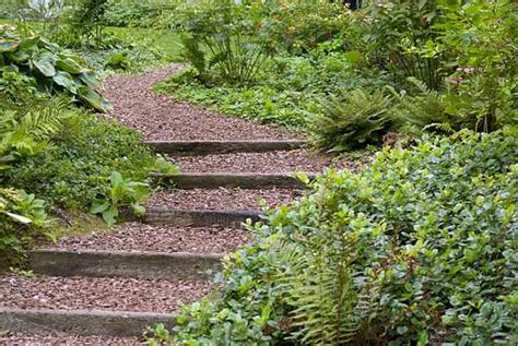landscape designs for backyard slopes wooden outdoor stairs and landscaping steps on slope natural landscaping ideas