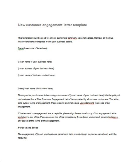 17 Letter Templates Free Word Pdf Documents Download Letter Of Engagement Template