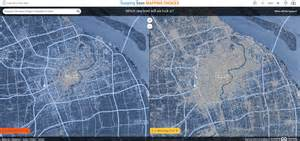 new maps show how cities will be affected by rising sea