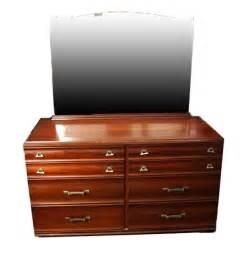 mid century modern kling cherry wood dresser with mirror