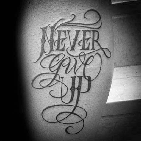 nice simple never give up tattoo 2 golfian com