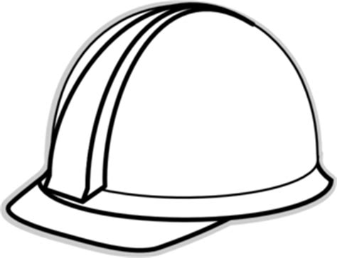 coloring pictures of hard hats white hard hat 2 clip art at clker com vector clip art