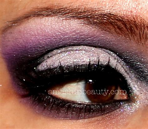 dramatic purple eyeshadow dramatic purple silver glitter eyeshadow smashinbeauty