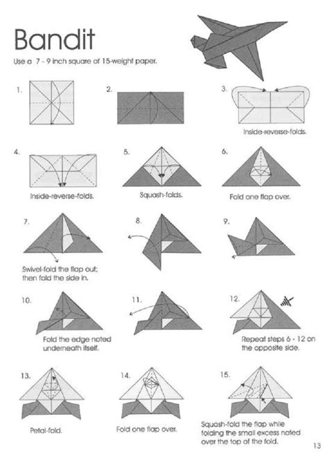 origami plans origami plane origami jet origami aircraft