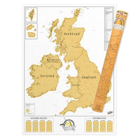 scratch map scratch map 174 uk ireland luckies of