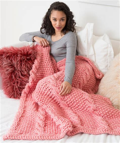 free pattern red heart chunky blanket free patterns red heart