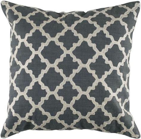 keyes decorative pillow charcoal white modern