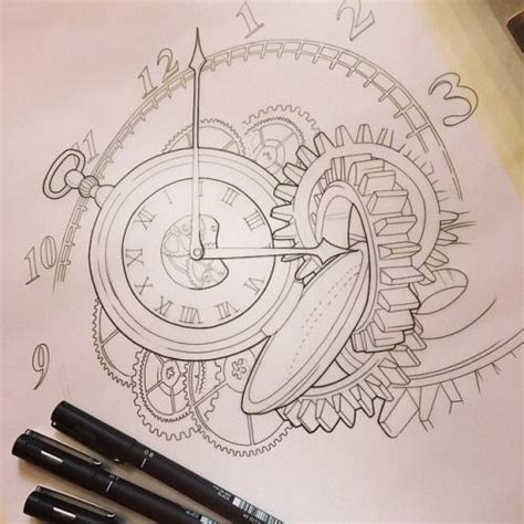 clock gears tattoo 25 best ideas about pocket drawing on