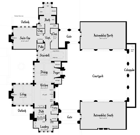 small castle floor plans declan castle plan tyree house plans