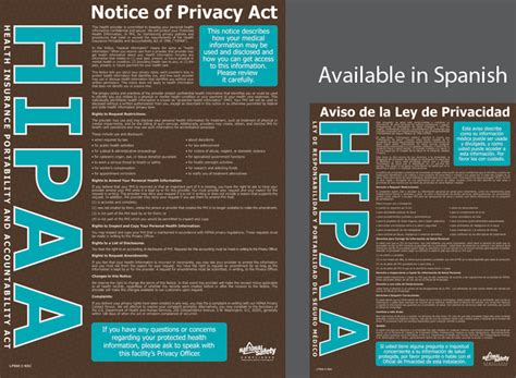 printable hipaa poster poster hipaa notice of privacy abc safety training