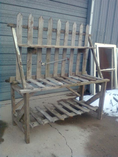 picket fence bench 79 best images about rustic reclaimed creations on