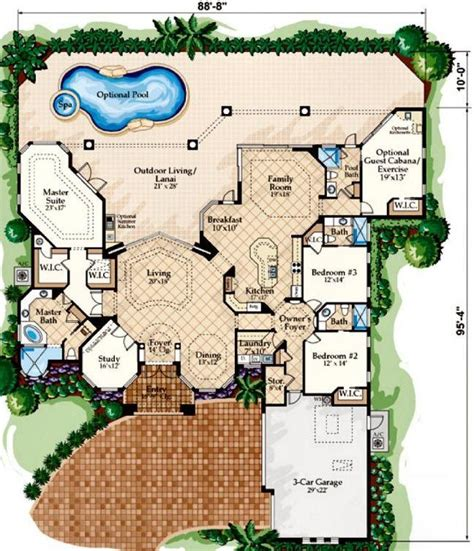mediterranean house floor plans best 25 mediterranean house plans ideas on