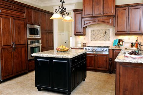 41 luxury u shaped kitchen designs amp layouts photos cherry cabinets with painted kitchen island kemper