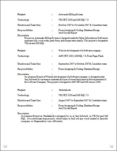 Excellent Resume Format by Resume Co Excellent Resume Sle Of Experienced Software Development Exposure On