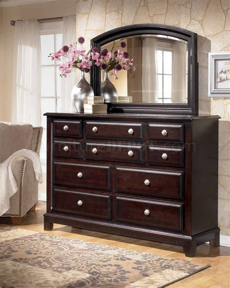 ridgley sleigh bedroom set ogle furniture ridgley bedroom b520 w sleigh bed in dark brown by ashley