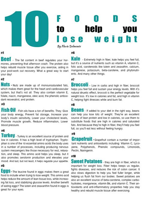 tasty thursday 10 foods to help you lose weight exercises for fitness by