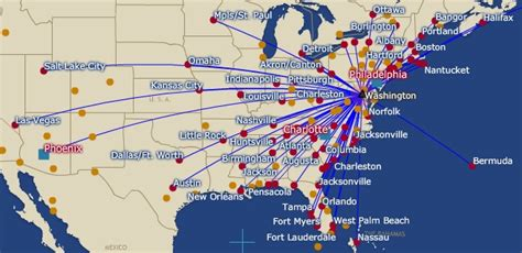 usair route map us airways express world airline news