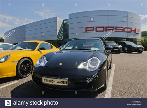 porsche sports car black porsche centre germany stock photos porsche centre