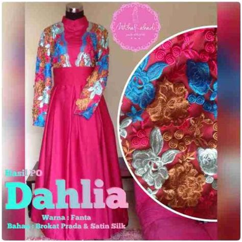 Dress Pesta Solemio Bunga Fanta dahlia dress outlet nurhasanah outlet baju pesta