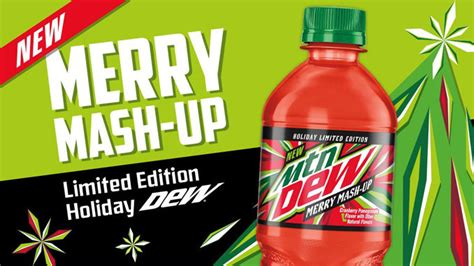 christmas mt dew new mountain dew merry mash up is here for the 2018 season chew boom