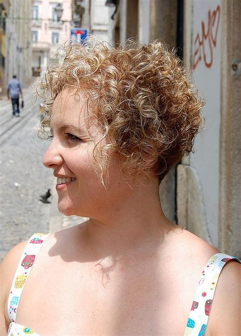 short bob haircut with wavy perm short curly hairstyle for women very girly sun kissed