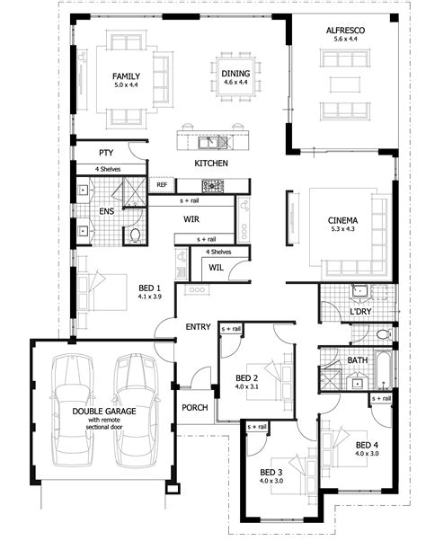 house blueprint ideas 4 bedroom house plans home designs celebration homes