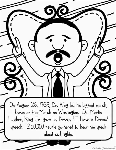martin luther king coloring pages preschool martin luther king jr freebie teacher karma
