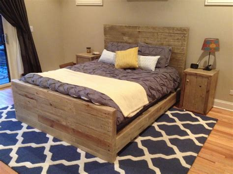 reclaimed wood bedroom set top diy pallet bed projects elly s diy blog