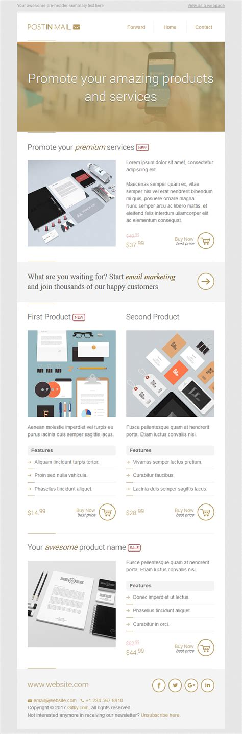 email layout builder postin mail responsive email template access to gifky
