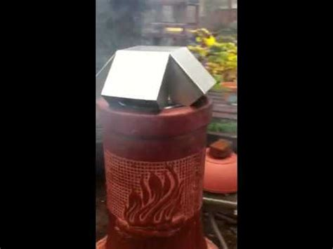 Chiminea Spark Screen by Clay Chiminea Burning