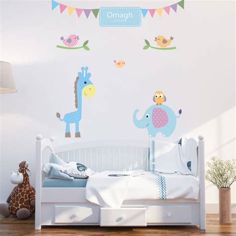 personalised baby boy wall stickers by parkins interiors