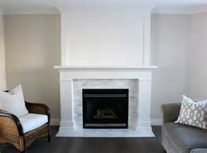 Fireplace Makeover Ideas Before After - white fireplace makeover with marble tile surround renocompare