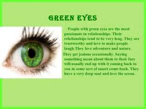 what eye color means what does your eye color say about you