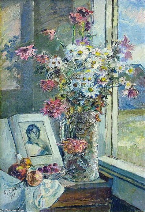 libro painting flowers jarr 243 n con flores y libro por el ventana 243 leo sobre lienzo de david davidovich burliuk 1882 1967