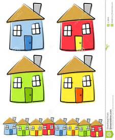 Desenho De Casas Desenhos Infanteis Das Casas Imagem De Stock Royalty Free
