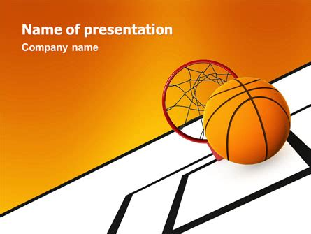 Basketball Presentation Template For Powerpoint And Keynote Ppt Star Basketball Powerpoint Template Free