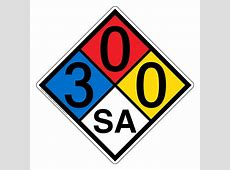 NFPA 704 3-0-0-Sa Sign NFPA-PRINTED-300SA NFPA Diamonds Nitric Acid Msds