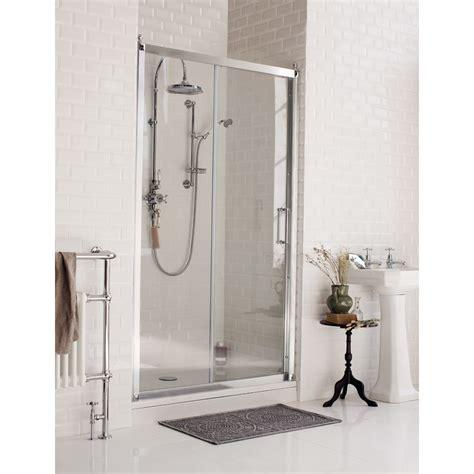 Recess Shower Door Burlington Traditional Soft Recessed Sliding Shower Door At Plumbing Uk
