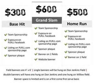 sponsorship form plrll