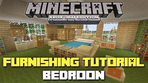 Bedroom Designs Minecraft Xbox Minecraft Xbox 360 House Furnishing Tutorial Bedroom