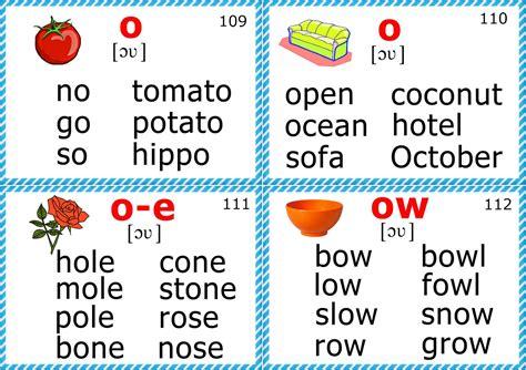 phonics flashcards printable english for kids step by step phonics flashcards long o
