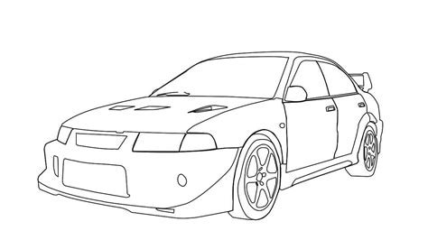 mitsubishi evo drawing mitsubishi evo 6 drawing on after effects youtube