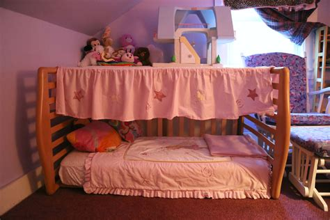 Crib Transforms Into Bed Repurposed Crib Into A Canopy Toddler Bed With Storage On Top Simply By Flipping It On Its Side