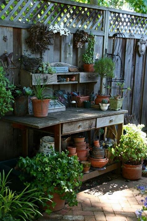 backyard decor pinterest potting bench garden decor pinterest